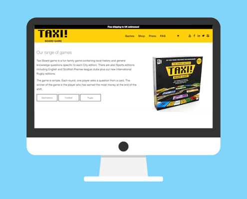 Taxi Website graphic